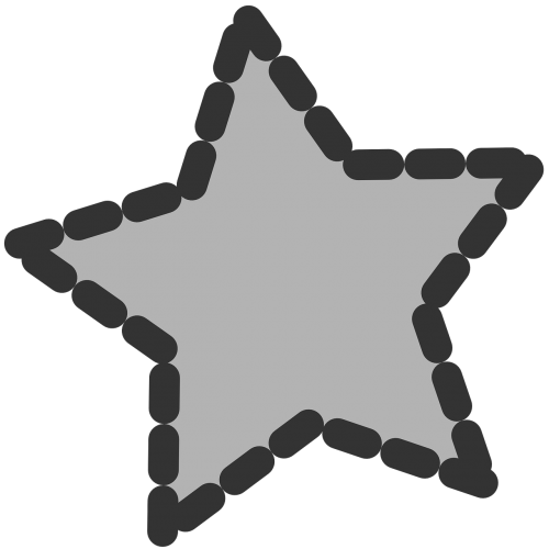 star shape dotted