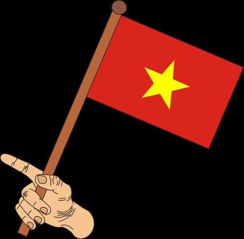 star vietnamese flag flag