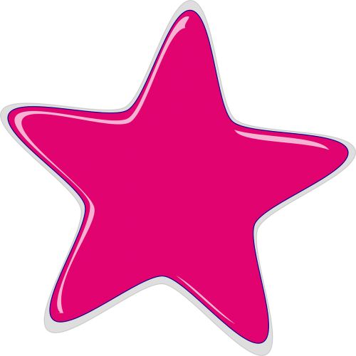 star pink rounded