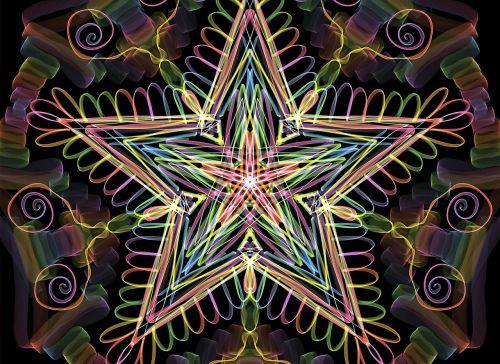 star mandala pattern