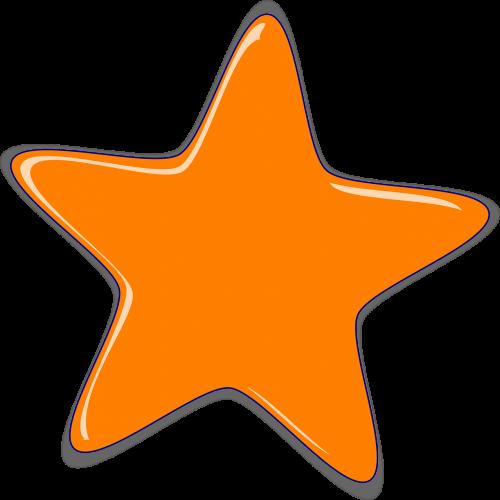 star shape glossy