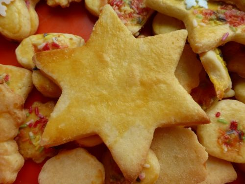 star cookie pastries