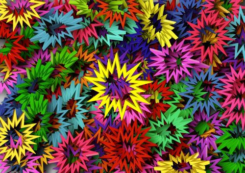 star colorful color