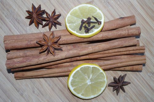 star anise cinnamon lemon