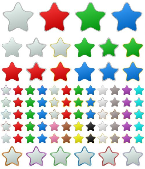 star button metallic metal