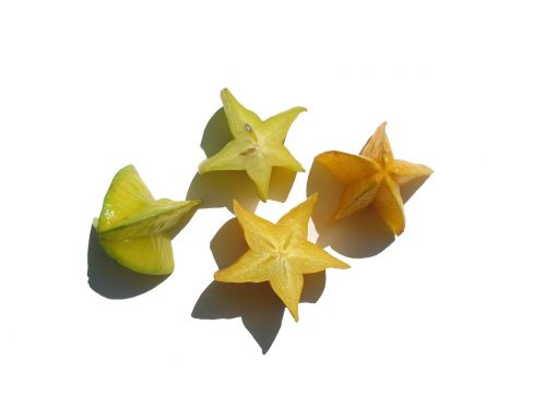 star fruit sliced yellow green