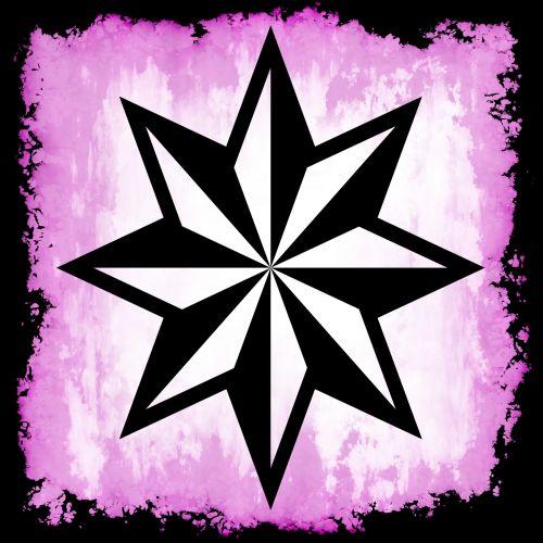Star Grunge Violet Frame