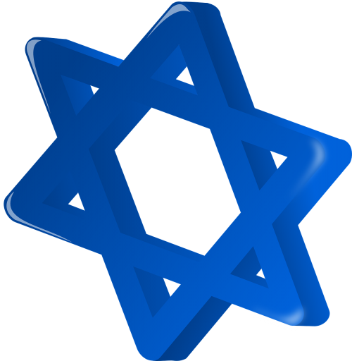 star of david star blue