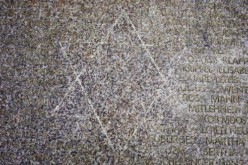 star of david memorial stone stone