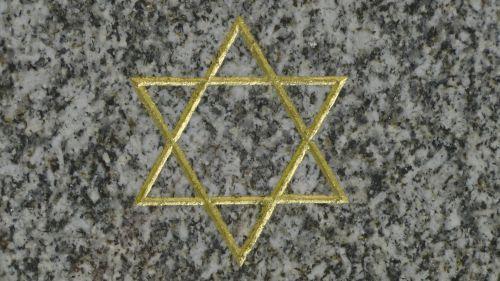 Star Of David In Cemetery