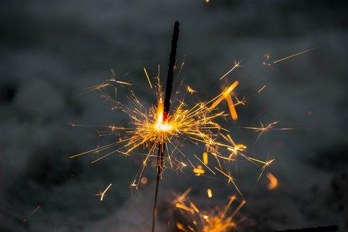star splashes  silvester  fireworks