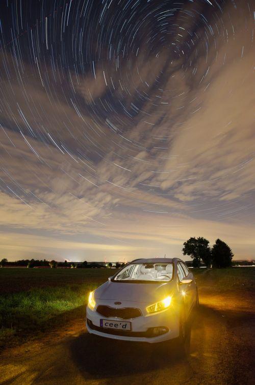 star trail night tracer