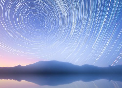 star trails star rotation of the earth