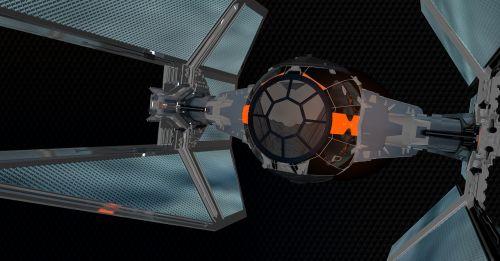 star wars tie interceptor spaceship