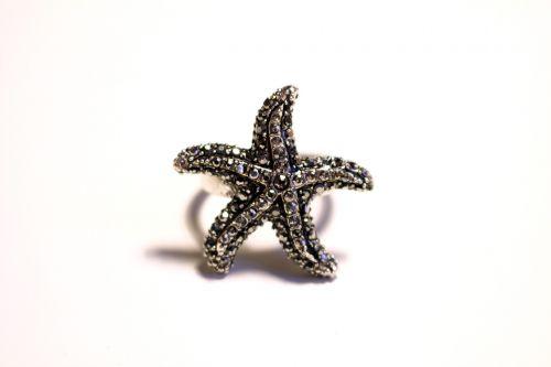 starfish ring precious stones