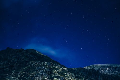 starry night starry sky mountains