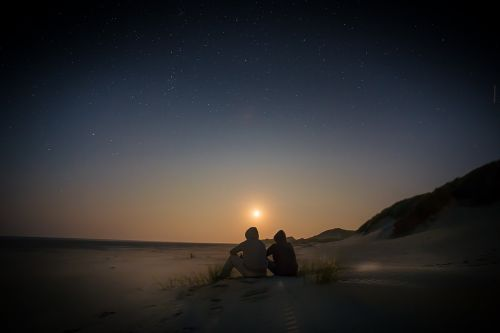 starry sky sunset viewing