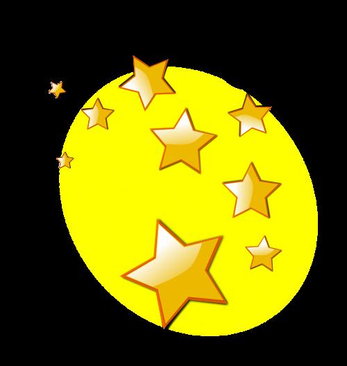stars shiny golden