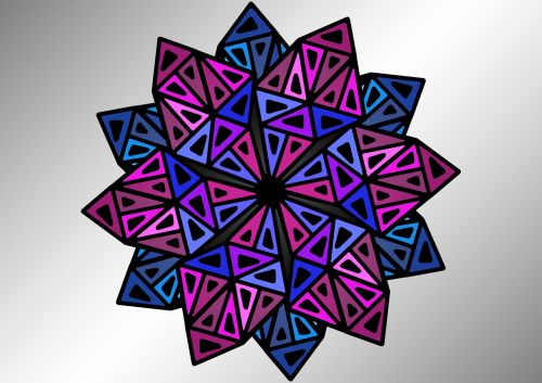 stars pattern triangle