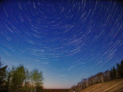 stars star trails night