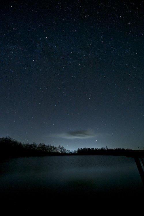 stars  starry sky  the night sky