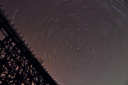 stars bridge night