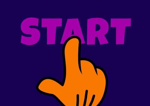 start hand finger