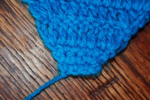 Starting Piece Of Crocheted Work