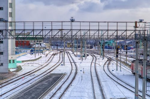 station snow railway