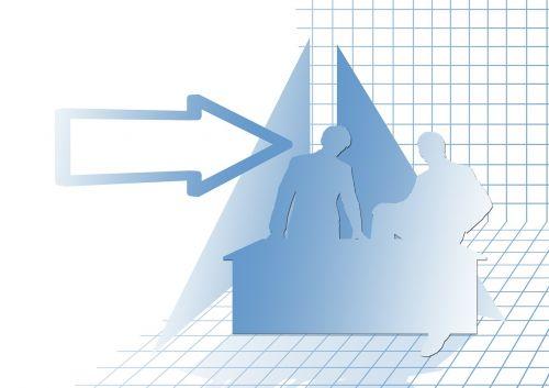 statistics symbol arrow