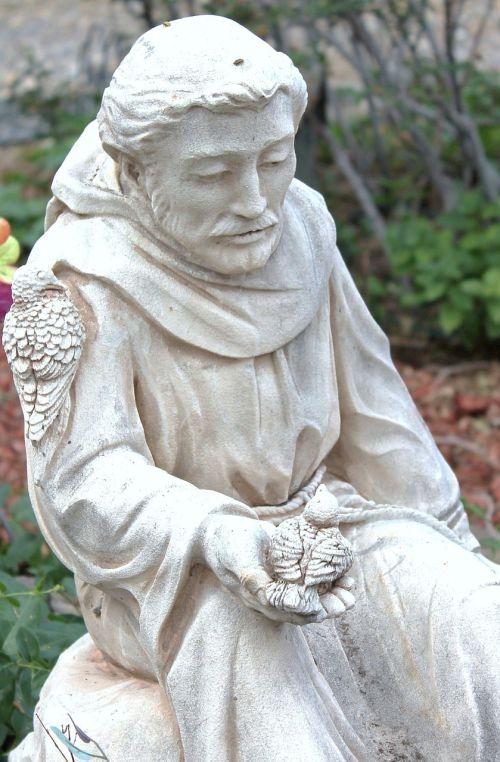 statue garden art saint francis of assisi