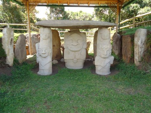archaeological indigenous statue