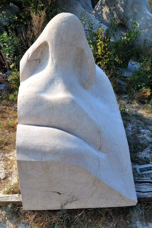 statue facial carving