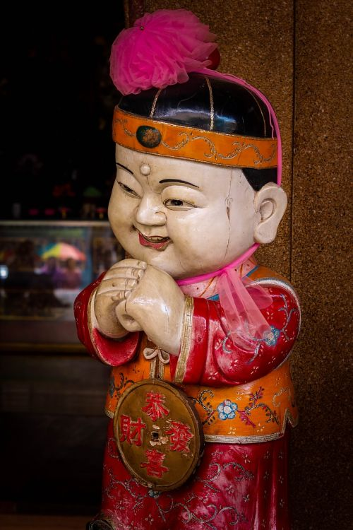 statue doll the chinese people