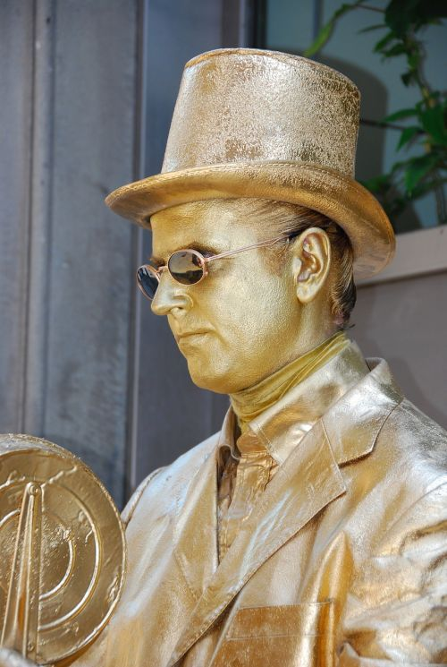 statue living statue gold