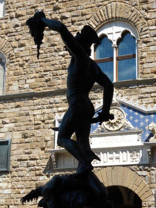 statue sculpture perseus