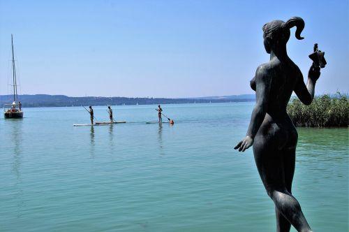 statue lake stand up paddle