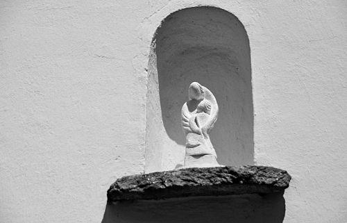statue virgin sculpture
