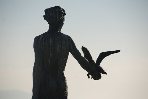 statue maiden with the seagull opatija