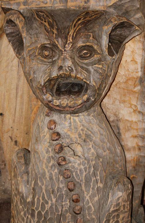 statue wood wooden sculpture
