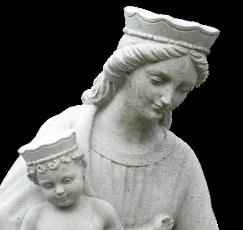 statue virgin mary holy