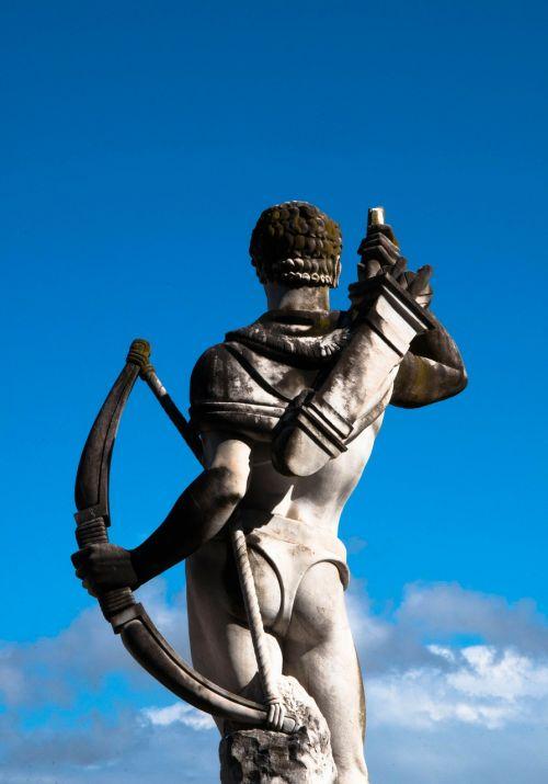 statue sculpture archer