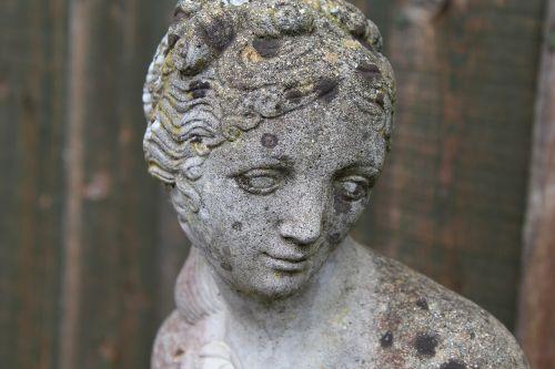 statue sad woman sad face