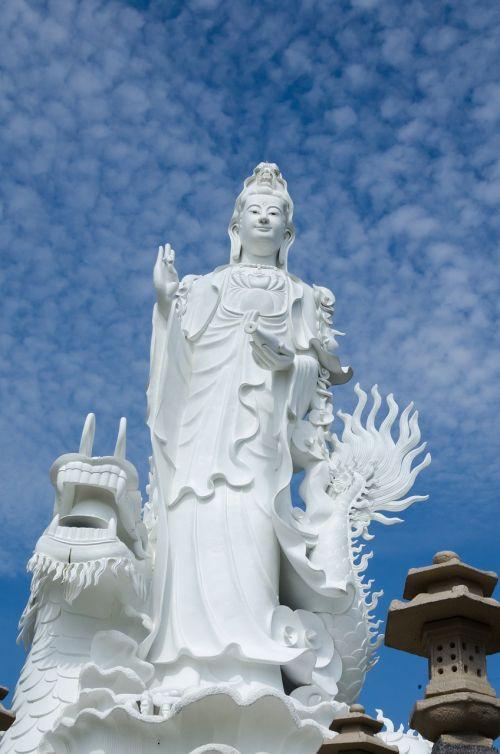 statula,religija,aukštas,architektūra,Antri metai,rūgštus,įsitikinimai,dvasingumas,buda,statyti,kultūrinis,šventykla,Vietnamas,peizažas
