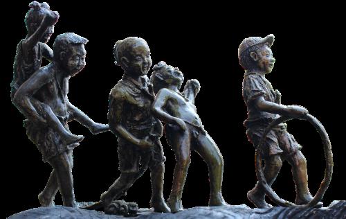 statue bronze children