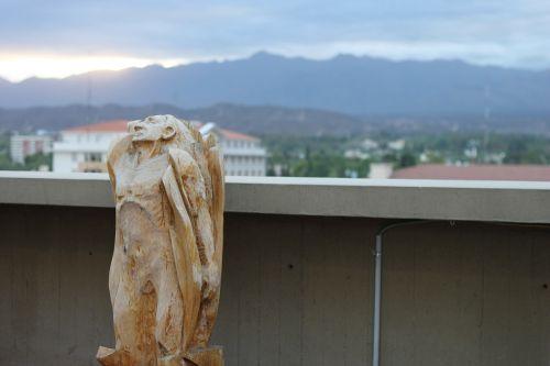 statue wood eastern
