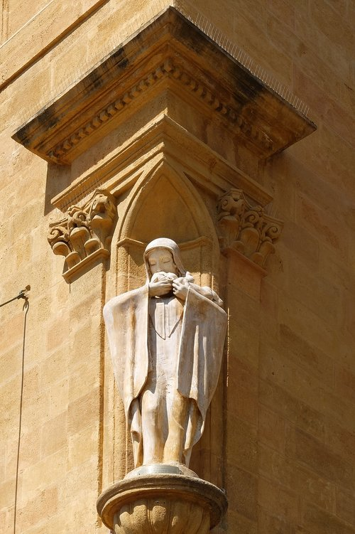 statue  virgin mary  architecture
