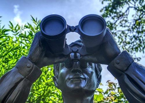 statue  figure  binoculars