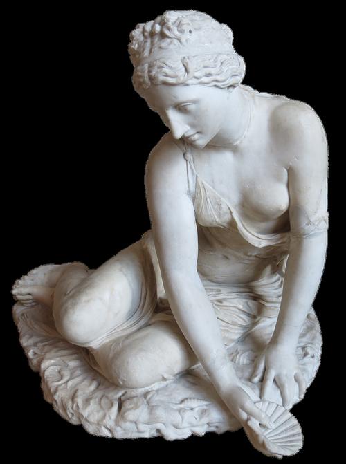 statue  nymph  woman