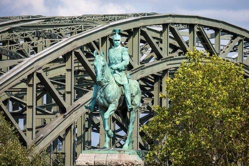 statue  equestrian statue  bridge